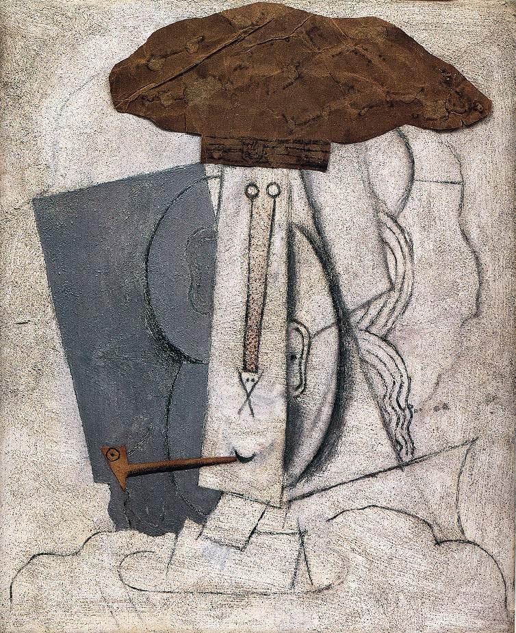 Пабло Пикассо. Студент с трубкой