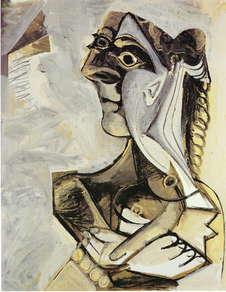 Пабло Пикассо. Женщина с косой (Жаклин Рок)