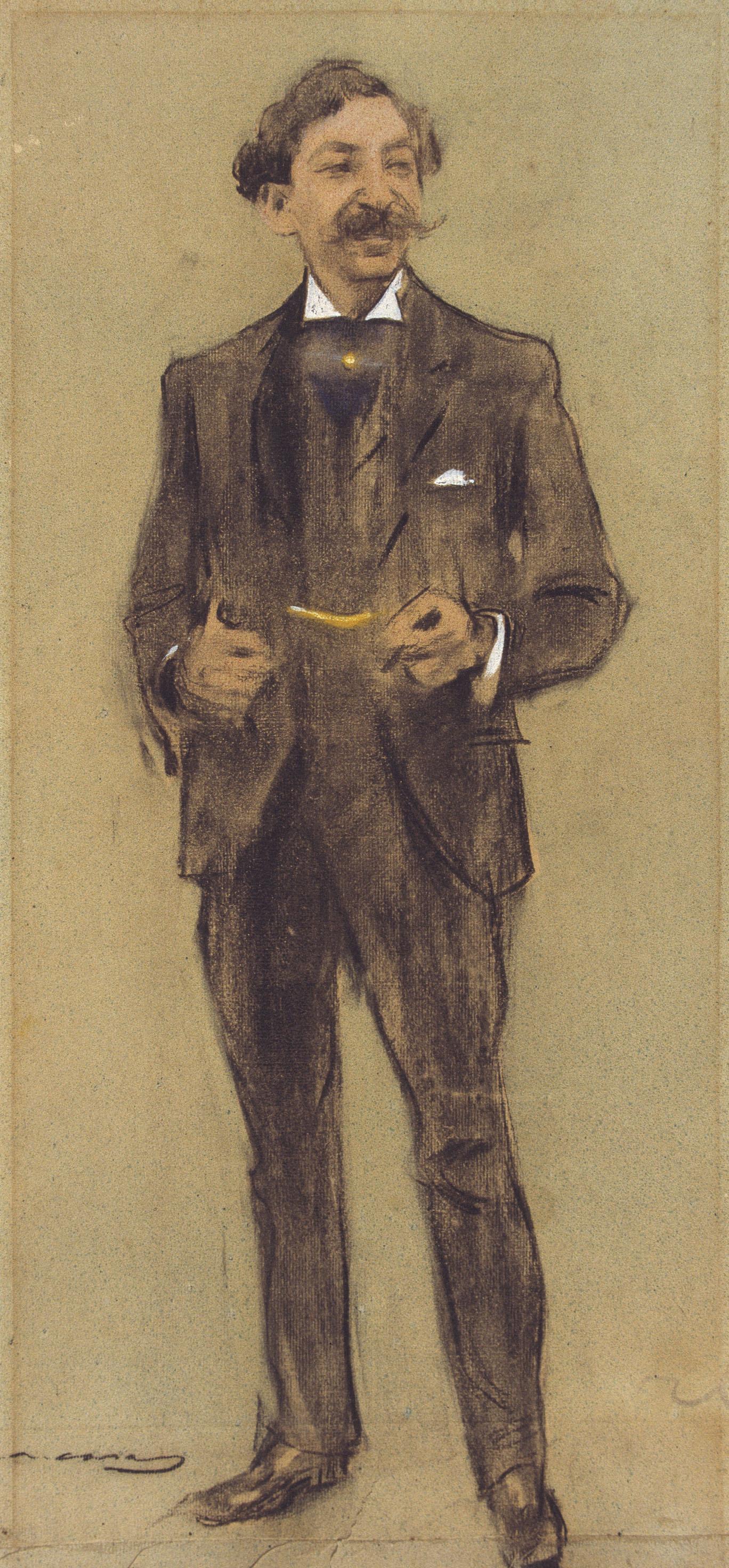Ramon Casas i Carbó. Portrait of Segundo Matilla