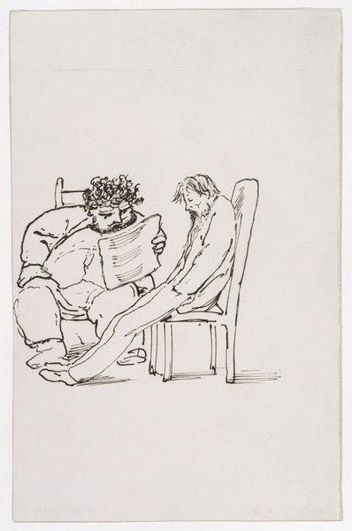 Edward Coley Burne-Jones. William Morris reads to the poet Burne-Jones