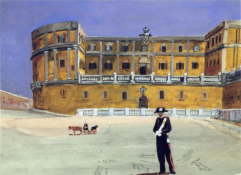 Александр Александрович Дейнека. Площадь в Риме