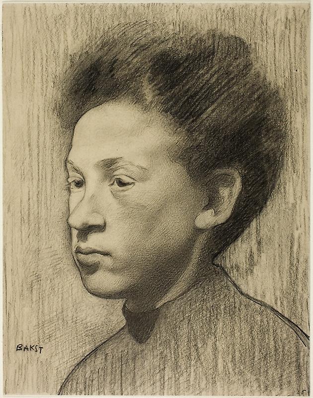 Lev Samoilovich Bakst (Leon Bakst). Portrait of a woman