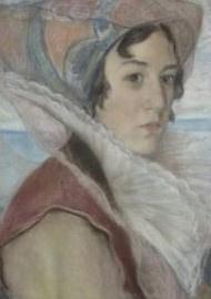 Natalia Nikolaevna Agapieva - Zakharova. Self-portrait.