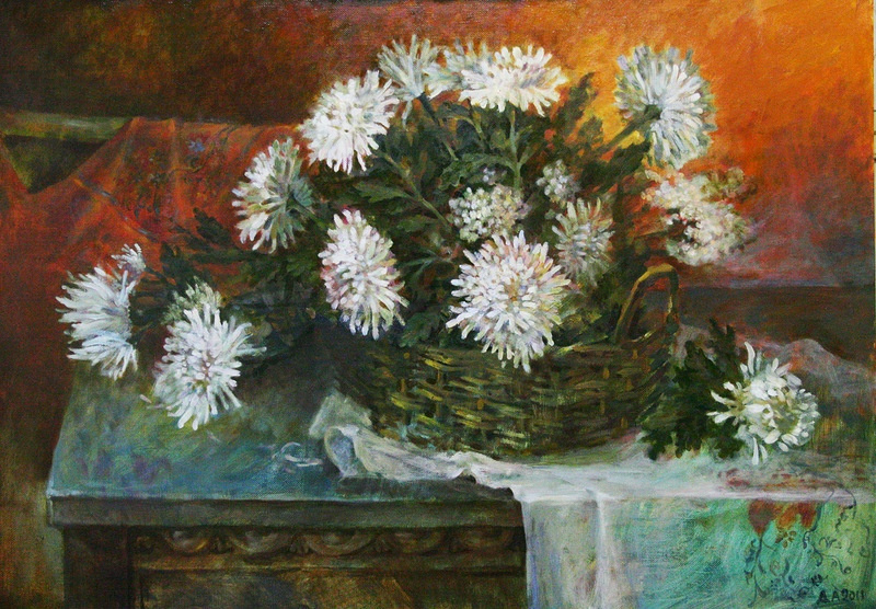 """Alexey Nikolaevich Dovgan. """"White Bouquet"""""""
