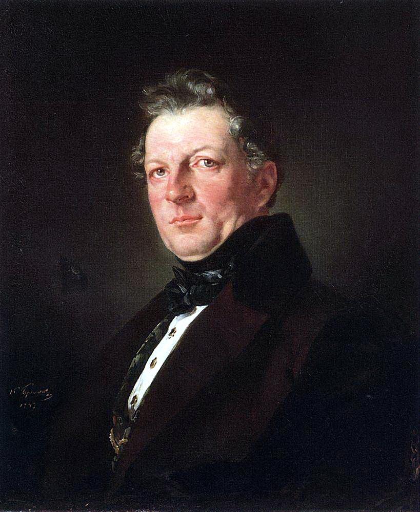 Карл Павлович Брюллов. Портрет архитектора Болотова