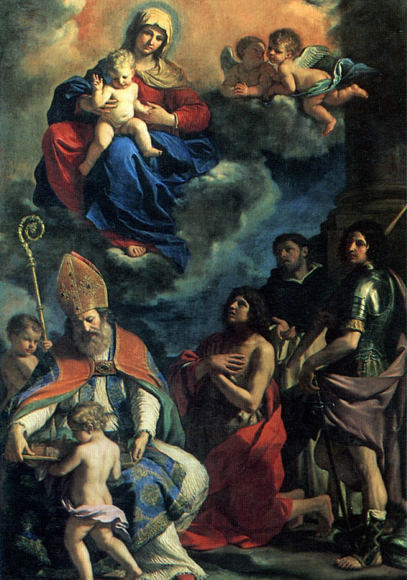 Giovanni Francesco Guercino. Madonna and child with saints of Modena