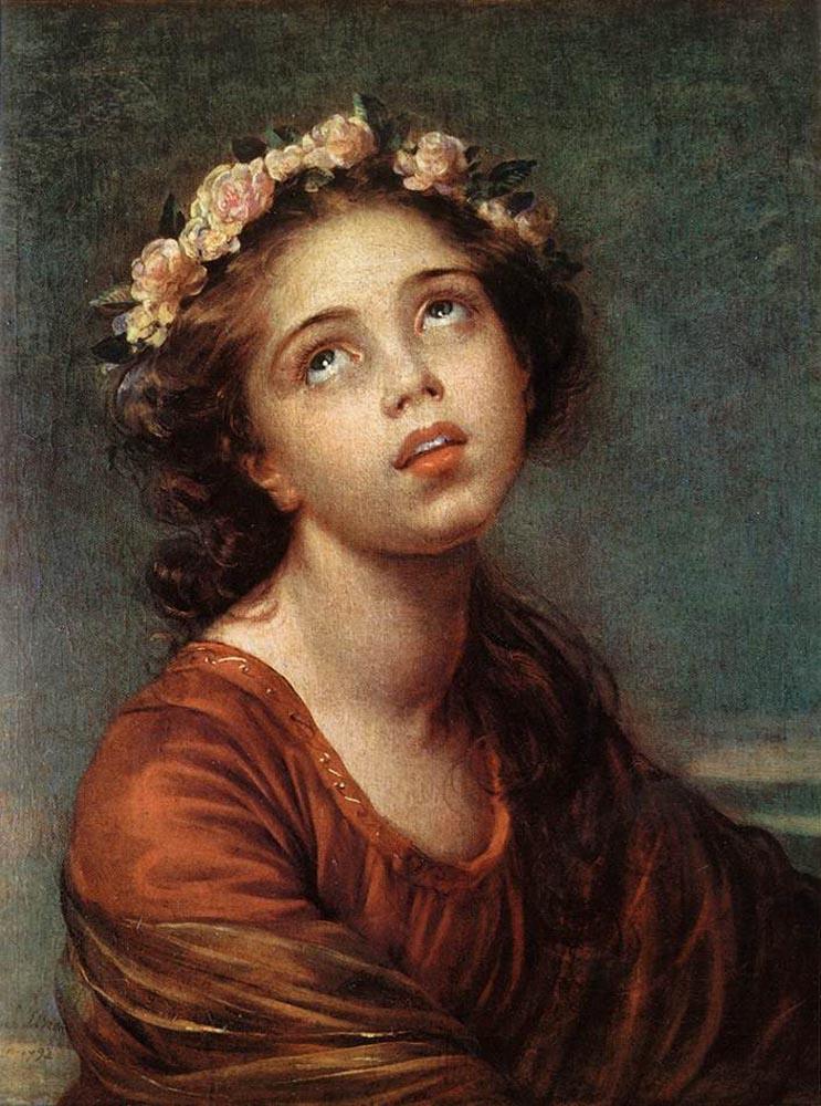 Elizabeth Vigee Le Brun. Portrait of the artist's daughter