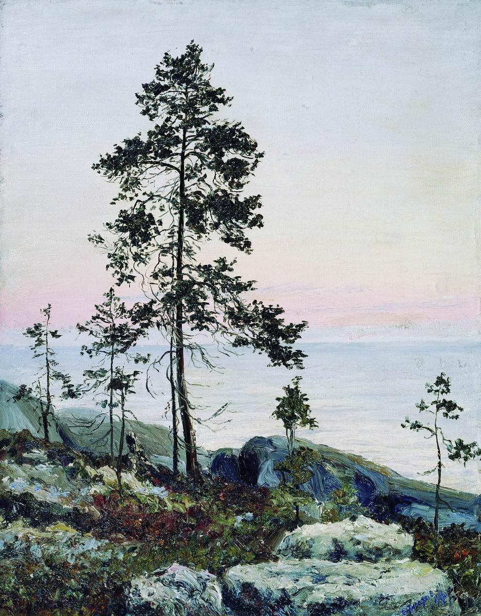 Степан Григорьевич Писахов. The shore of the White Sea. Sunrise