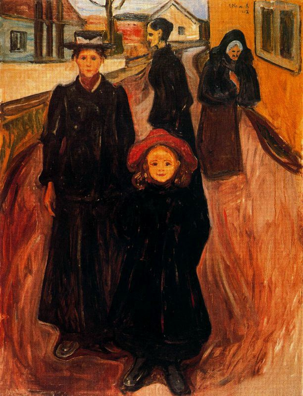 Edward Munch. Four ages in life