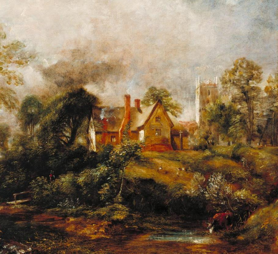 John Constable. Farm Glebe. Fragment