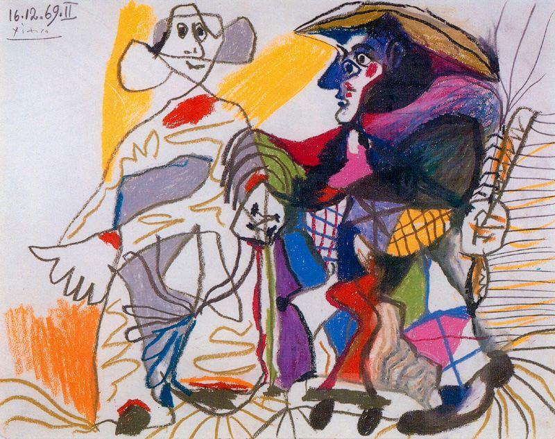 Пабло Пикассо. Пьерро и Арлекин