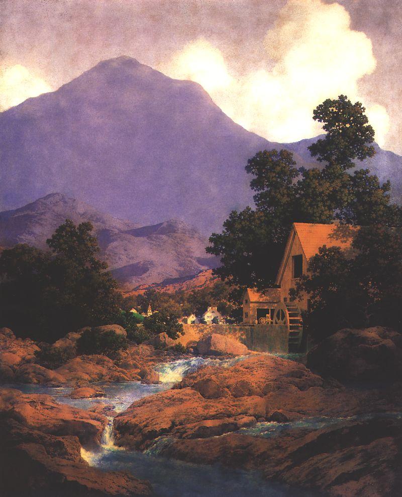Максфилд Пэрриш. Скалы и горы