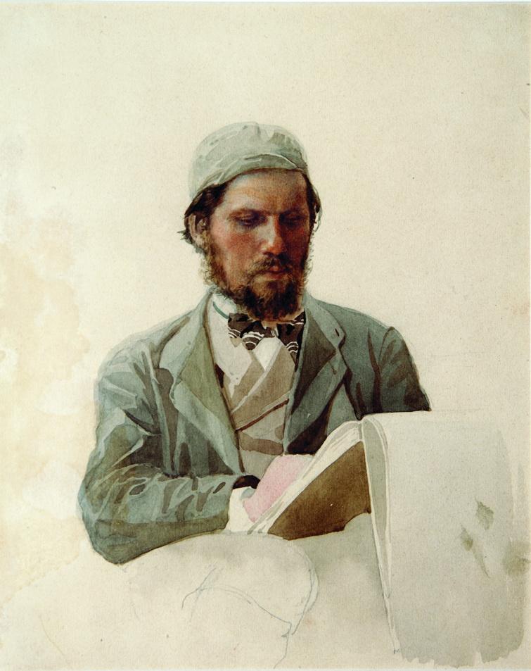 Nikolay Aleksandrovich Yaroshenko. Portrait of artist Ivan Nikolaevich Kramsky. 1874