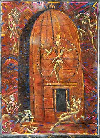 Valery victorovich shechkin. Krishna Temple in Kojuraho