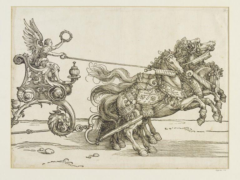 Albrecht Dürer. A small triumphal chariot of Maximilian I