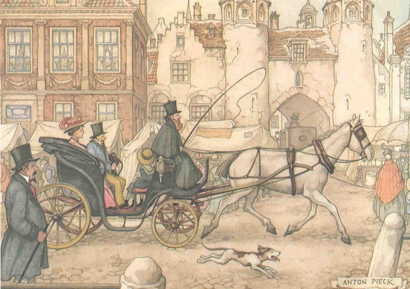 Anton Pieck. Mode of transport.