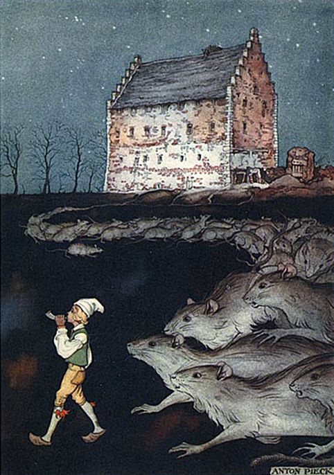 Anton Pieck. Journey of Nils with wild geese. Little Piper