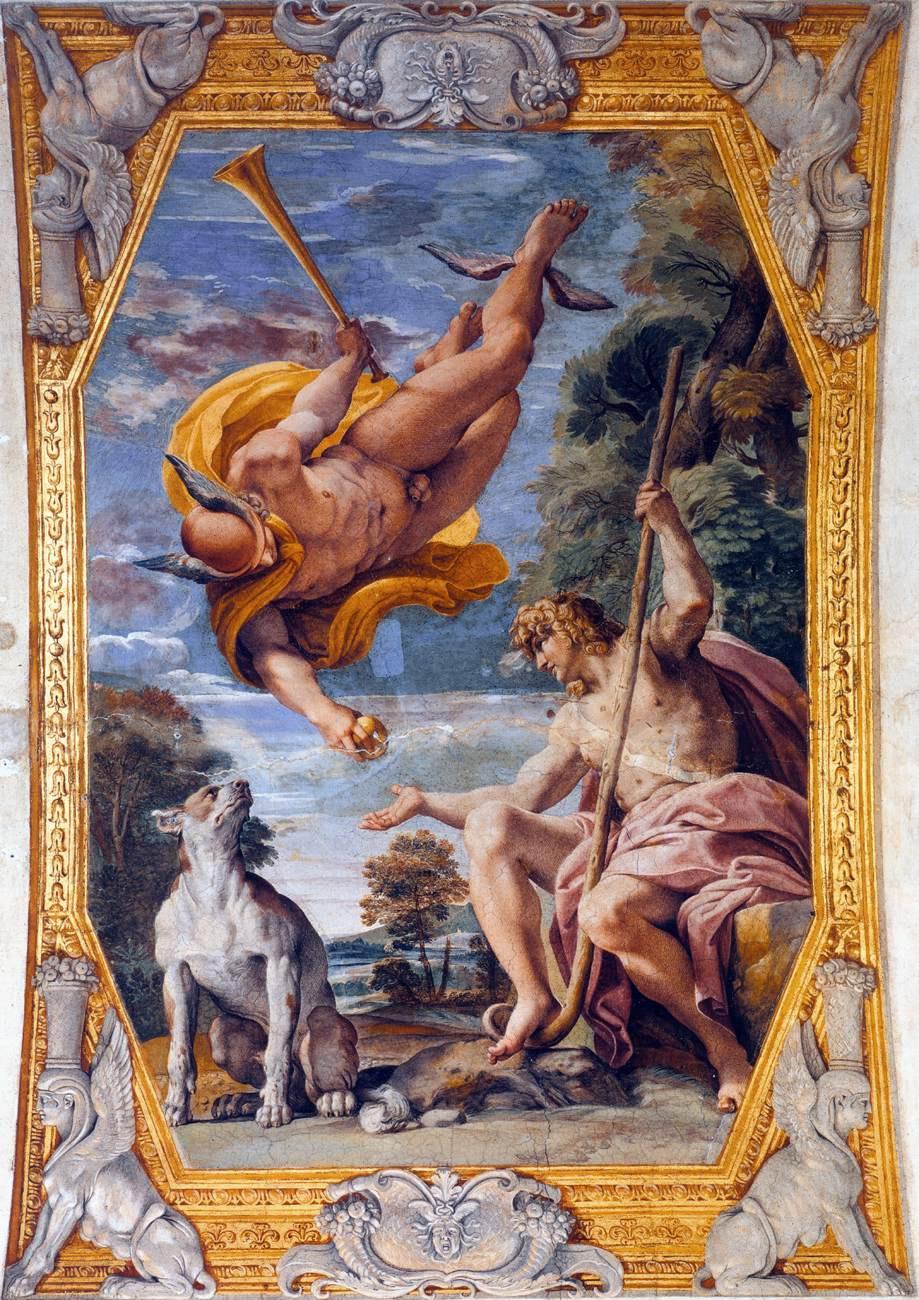 Annibale Carracci. Mercury and Paris
