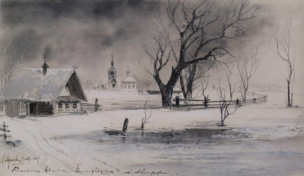 Алексей Кондратьевич Саврасов. Оттепель