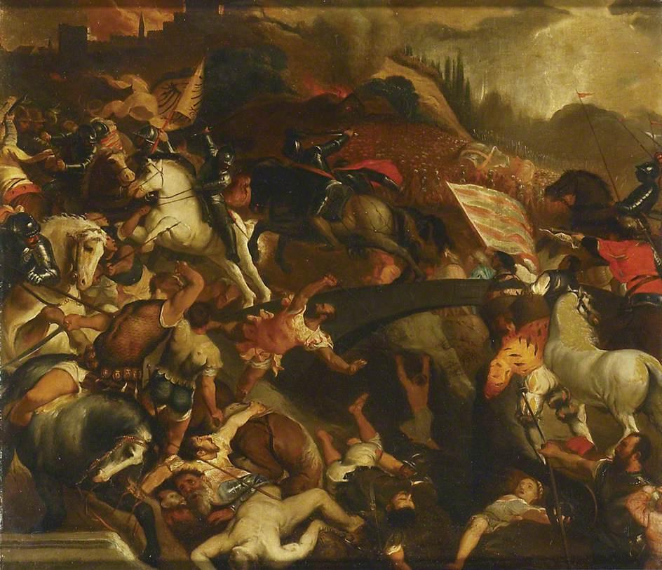 Titian Vecelli. The battle of Cadore (copy)
