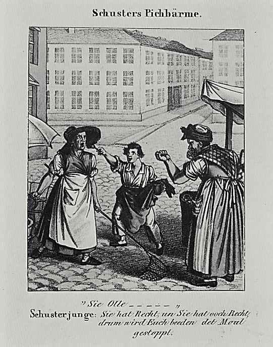 Адольф фон Менцель. Картинка из юмористического журнала