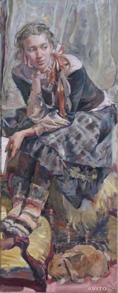 Анастасия Илюшина. Портрет Ольги с кроликом