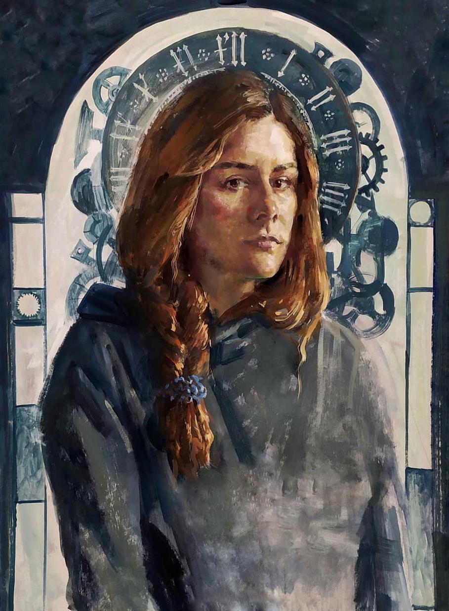 Polina Mikhailovna Abdulaeva. Self-portrait
