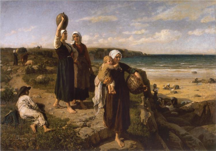 Жюль Бретон. Весна у моря
