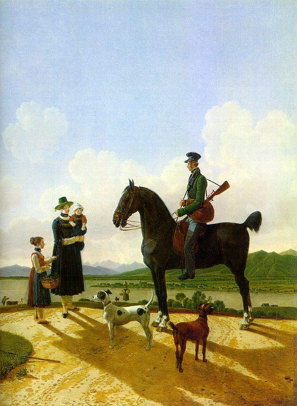 Wilhelm Alexander Wolfgang von Kobell. Dark stallion