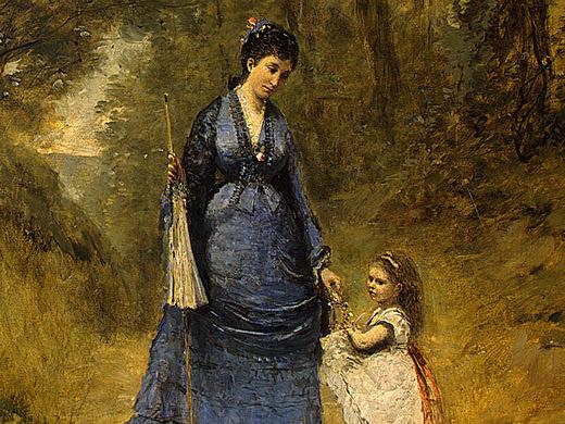 Камиль Коро. Мадам Штумпф и ее дочь