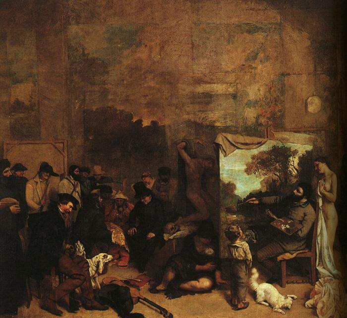 Gustave Courbet. Studio artists