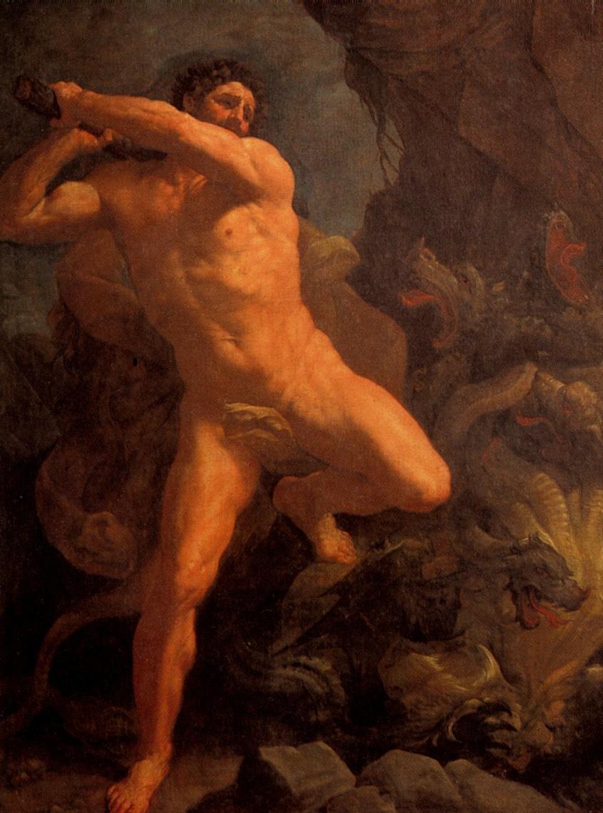 Guido Reni. Hercules defeating the Hydra