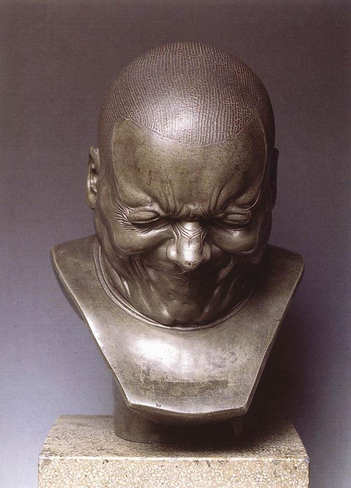 Франц Ксавер Мессершмидт. Голова персонажа арка зла