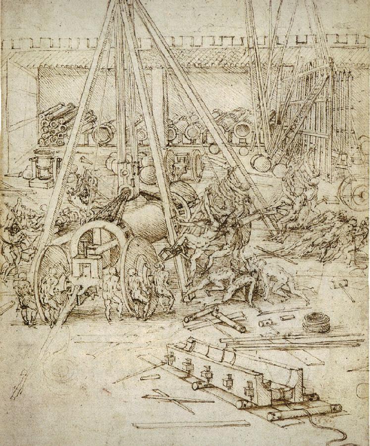 Leonardo da Vinci. Foundry