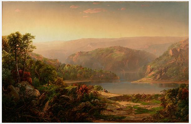 Уильям Луис Соннтаг. Утро в горах Голубого хребта