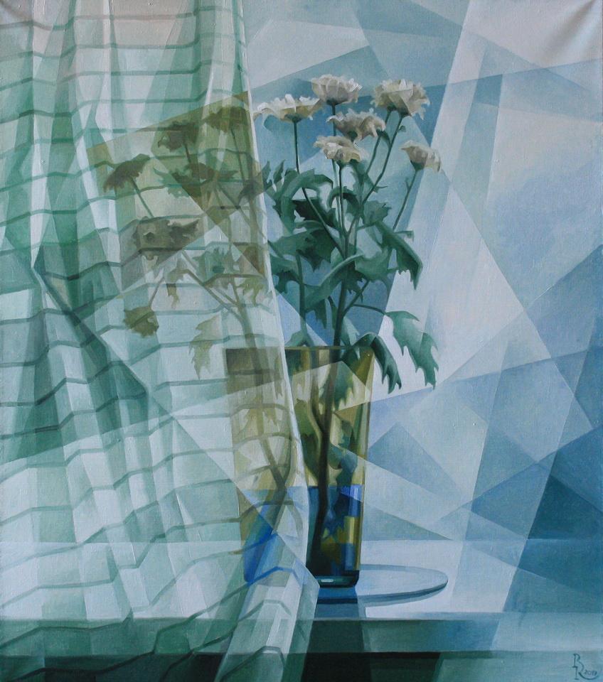 Vasily Krotkov. January. Post-cubofuturism