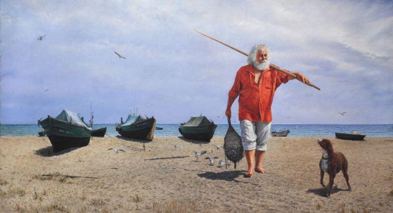 Valentin Revelioti. Old fisherman