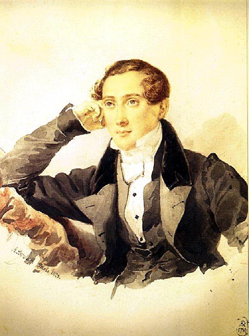 Karl Bryullov. Portrait of a man