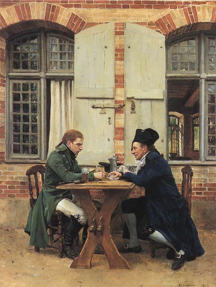 Жан-Луи-Эрнест Месонье. Игроки в карты