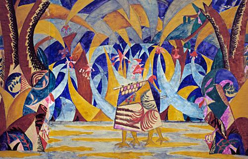 """Михаил Федорович Ларионов. Лес. Эскиз декорации к балету """"Русские сказки"""""""