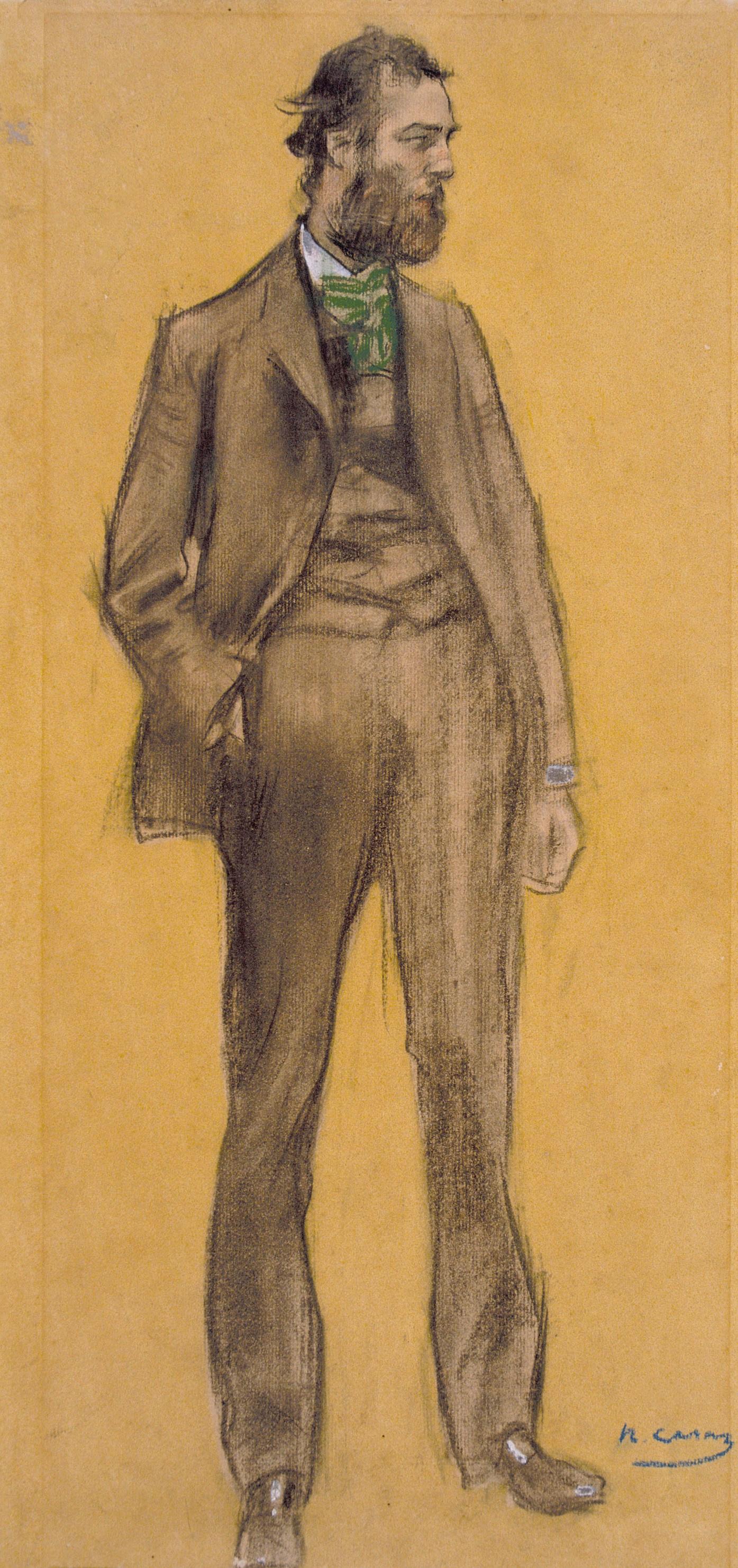 Ramon Casas i Carbó. Portrait of Ramon Pishot