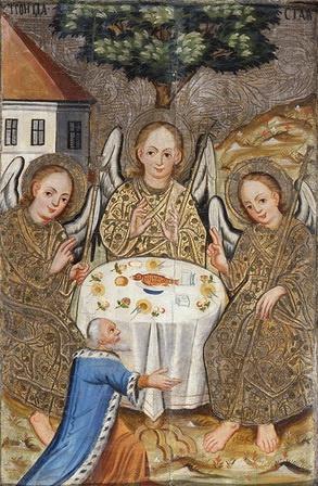 Украинский Иконописец XVIII века. Троица Старозаветная