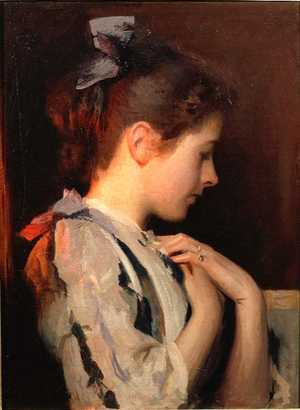 Edmund Charles Tarbell. My mother's amethyst