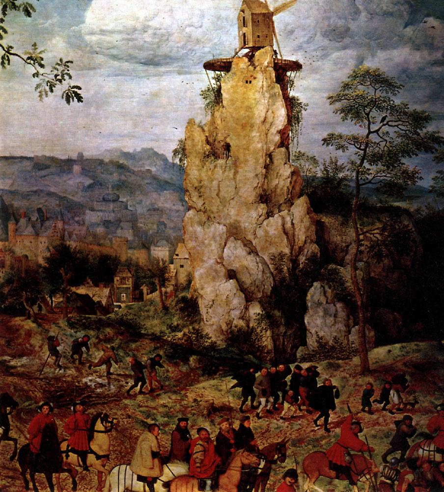 Питер Брейгель Старший. Шествие на Голгофу (Несение креста). Фрагмент 1
