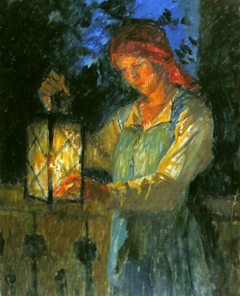Николай Петрович Богданов-Бельский. Девочка с фонарем