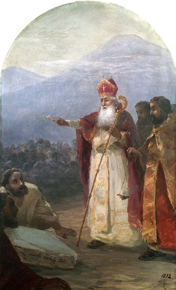 Ivan Aivazovsky. The baptism of the Armenian people. Gregory the illuminator (IV century)