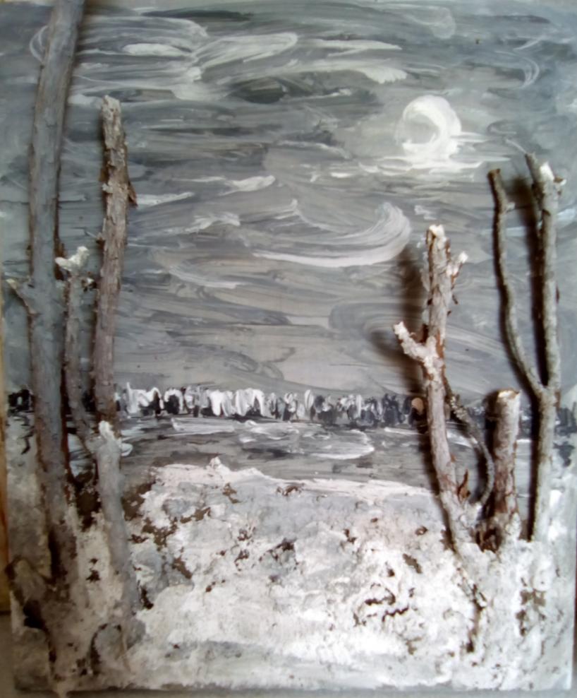 Vladimir Mikhailovich Denisov. Winter midnight