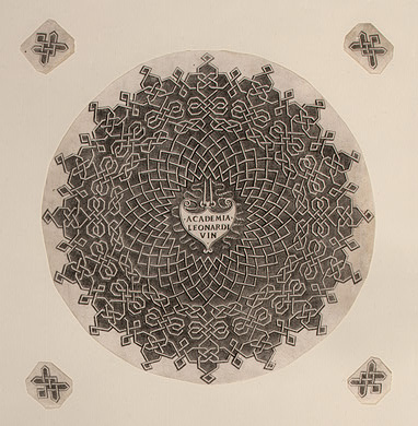 """Леонардо да Винчи. Иллюстрация к трактату Луки Пачоли """"О божественной пропорции"""""""