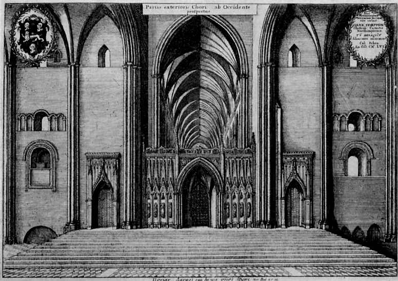 Венцель Холлар. Интерьер собора Святого Павла