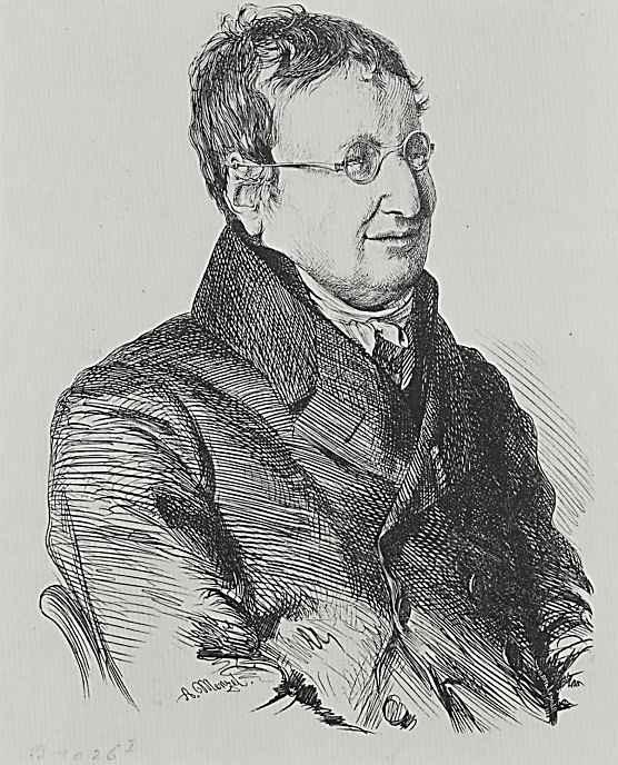 Адольф фон Менцель. Портрет директора Уголовного суда доктора Юлиуса Эдуарда Хитцига